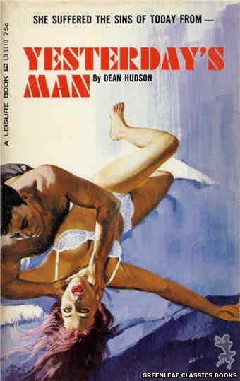 Leisure Books LB1110 - Yesterday's Man by Dean Hudson, cover art by Robert Bonfils (1965)