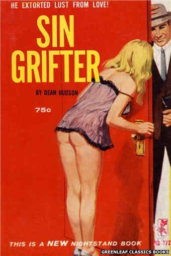 Nightstand Books NB1725 - Sin Grifter by Dean Hudson, cover art by Robert Bonfils (1965)
