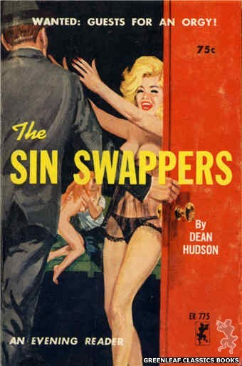 Evening Reader ER775 - The Sin Swappers by Dean Hudson, cover art by Robert Bonfils (1965)