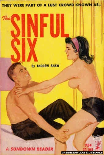 Sundown Reader SR548 - The Sinful Six by Andrew Shaw, cover art by Unknown (1965)