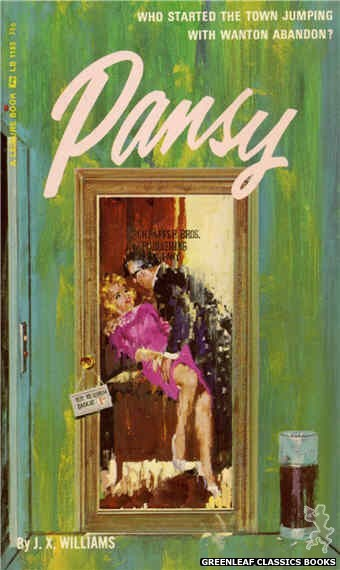Leisure Books LB1153 - Pansy by J.X. Williams, cover art by Robert Bonfils (1966)