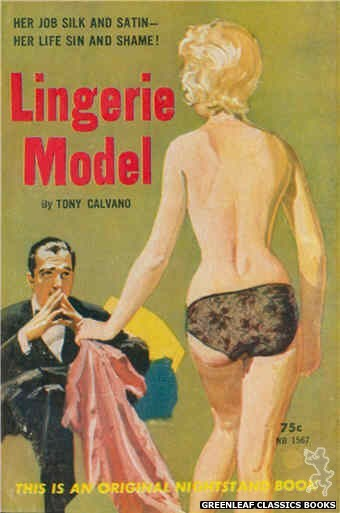 Nightstand Books NB1567 - Lingerie Model by Tony Calvano, cover art by Harold W. McCauley (1961)