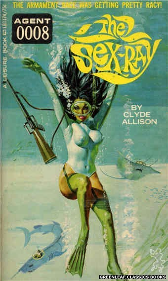 Leisure Books LB1174 - The Sex Ray by Clyde Allison, cover art by Robert Bonfils (1966)