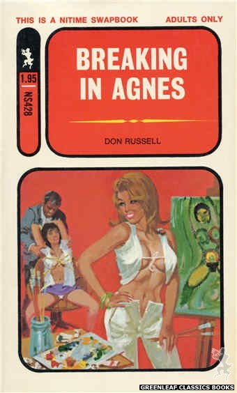 Nitime Swapbooks NS428 - Breaking In Agnes by Don Russell, cover art by Robert Bonfils (1971)