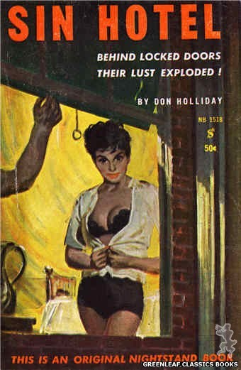 Nightstand Books NB1518 - Sin Hotel by Don Holliday, cover art by Harold W. McCauley (1960)