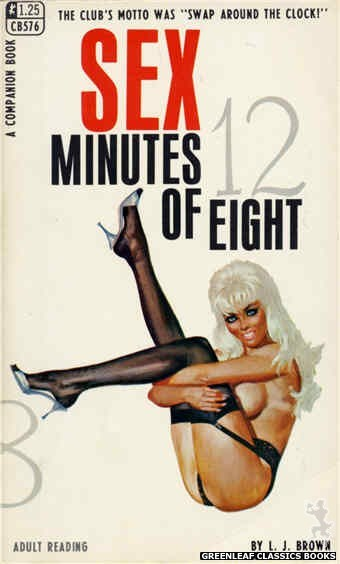 Companion Books CB576 - Sex Minutes Of Eight by L.J. Brown, cover art by Robert Bonfils (1968)