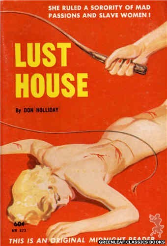 Midnight Reader 1961 MR423 - Lust House by Don Holliday, cover art by Harold W. McCauley (1962)
