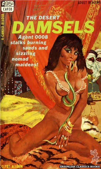Candid Reader CA930 - The Desert Damsels by Clyde Allison, cover art by Robert Bonfils (1968)