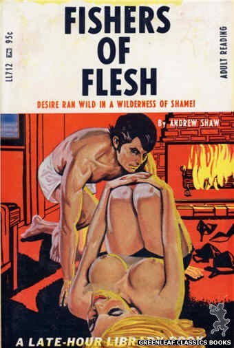 Late-Hour Library LL712 - Fishers Of Flesh by Andrew Shaw, cover art by Tomas Cannizarro (1967)