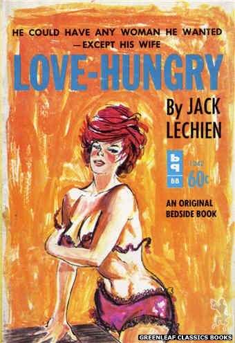 Bedside Books BB 1242 - Love-Hungry by Jack Lechien, cover art by Unknown (1963)
