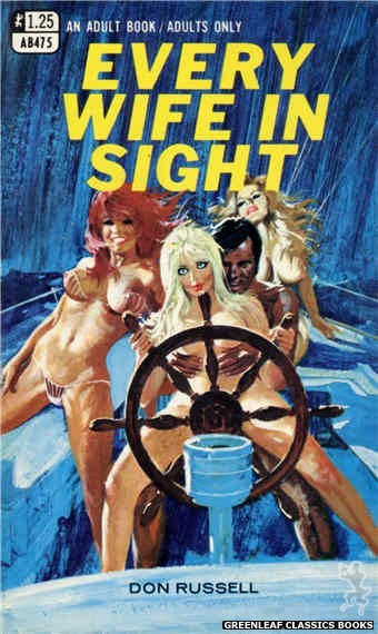 Adult Books AB475 - Every Wife In Sight by Don Russell, cover art by Robert Bonfils (1969)