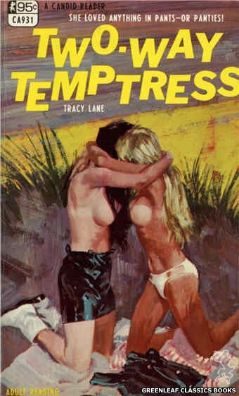 Candid Reader CA931 - Two-Way Temptress by Tracy Lane, cover art by Robert Bonfils (1968)