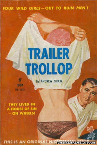 Nightstand Books NB1553 - Trailer Trollop by Andrew Shaw, cover art by Harold W. McCauley (1961)