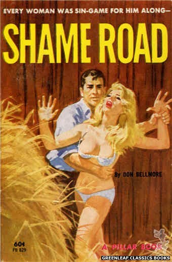 Pillar Books PB829 - Shame Road by Don Bellmore, cover art by Robert Bonfils (1964)