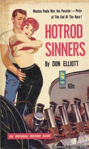 Bedside Books BB 1222 - Hotrod Sinners by Don Elliott, cover art by Harold W. McCauley (1962)