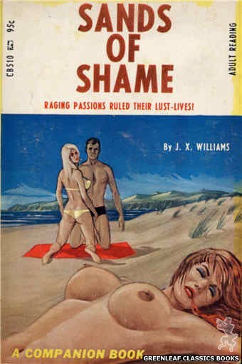 Companion Books CB510 - Sands Of Shame by J.X. Williams, cover art by Ed Smith (1967)