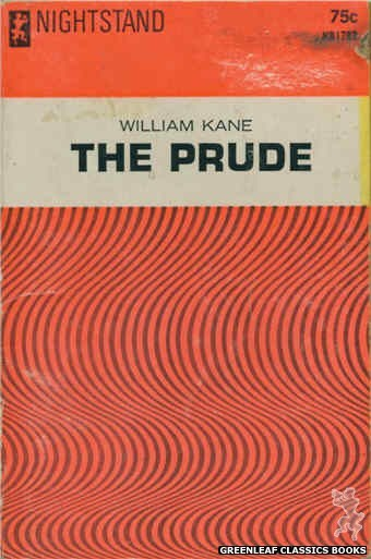 Nightstand Books NB1787 - The Prude by William Kane, cover art by Text + Design Only (1966)