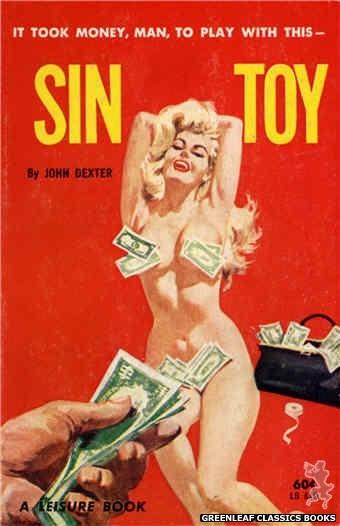Leisure Books LB610 - Sin Toy by John Dexter, cover art by Robert Bonfils (1963)