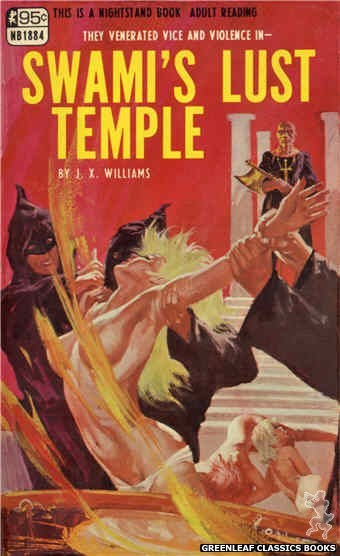 Nightstand Books NB1884 - Swami's Lust Temple by J.X. Williams, cover art by Unknown (1968)