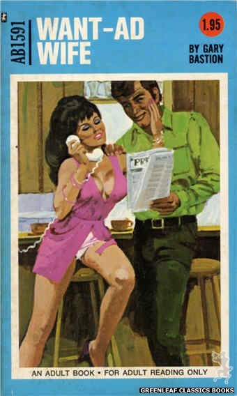 Adult Books AB1591 - Want-Ad Wife by Gary Bastion, cover art by Unknown (1971)
