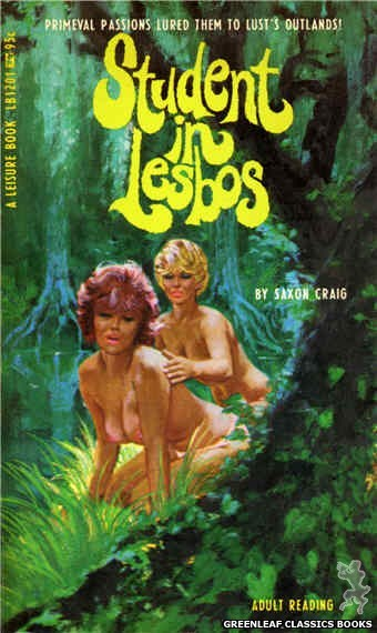 Leisure Books LB1201 - Student In Lesbos by Saxon Craig, cover art by Robert Bonfils (1967)