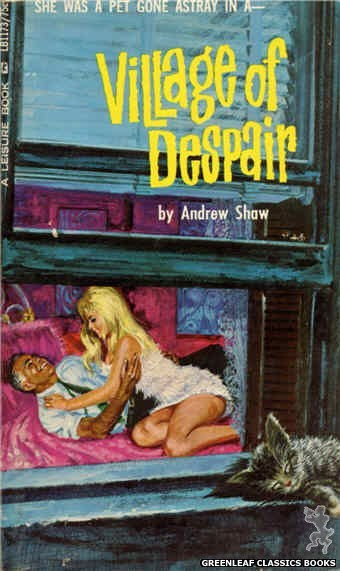 Leisure Books LB1173 - Village Of Despair by Andrew Shaw, cover art by Robert Bonfils (1966)