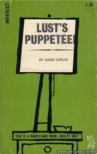 Nightstand Books NB1976 - Lust's Puppeteer by Gage Carlin, cover art by Cut Out Cover (1970)