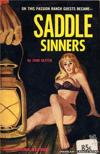 Evening Reader ER750 - Saddle Sinners by John Dexter, cover art by Unknown (1964)