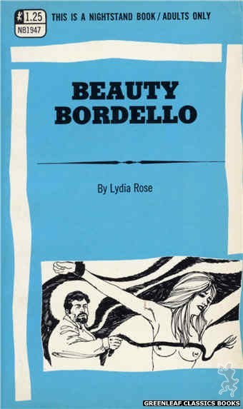Nightstand Books NB1947 - Beauty Bordello by Lydia Rose, cover art by Harry Bremner (1969)