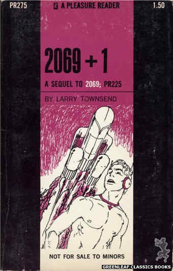 Pleasure Reader PR275 - 2069+1 by Larry Townsend, cover art by Harry Bremner (1970)