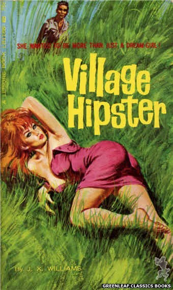 Leisure Books LB1166 - Village Hipster by J.X. Williams, cover art by Robert Bonfils (1966)