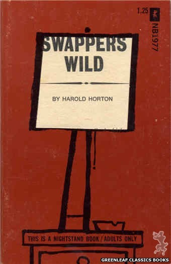 Nightstand Books NB1977 - Swappers Wild by Harold Horton, cover art by Cut Out Cover (1970)