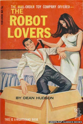 Nightstand Books NB1808 - The Robot Lovers by Dean Hudson, cover art by Unknown (1966)