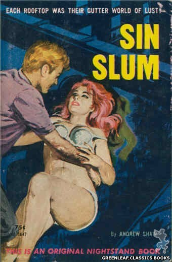 Nightstand Books NB1647 - Sin Slum by Andrew Shaw, cover art by Robert Bonfils (1963)