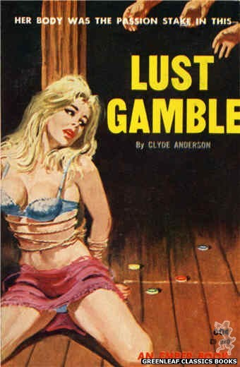 Ember Books EB920 - Lust Gamble by Clyde Anderson, cover art by Robert Bonfils (1964)