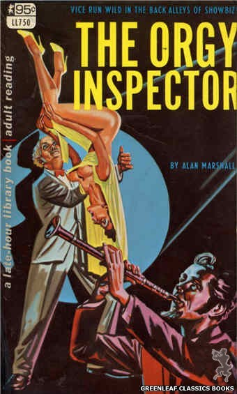 Late-Hour Library LL750 - The Orgy Inspector by Alan Marshall, cover art by Tomas Cannizarro (1968)