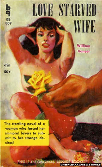 Bedside Books BB 809 - Love Starved Wife by William Vaneer, cover art by Unknown (1959)