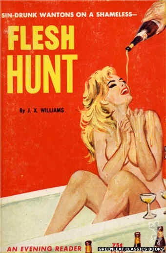 Evening Reader ER747 - Flesh Hunt by J.X. Williams, cover art by Unknown (1964)