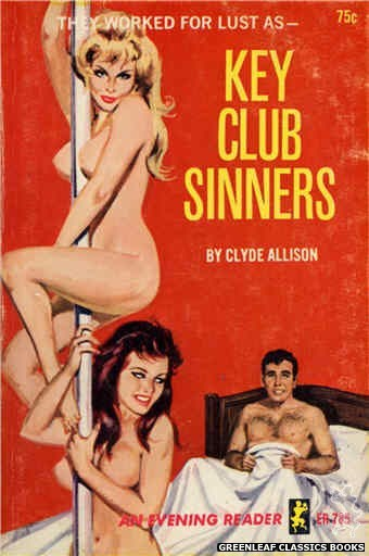 Evening Reader ER785 - Key Club Sinners by Clyde Allison, cover art by Robert Bonfils (1965)