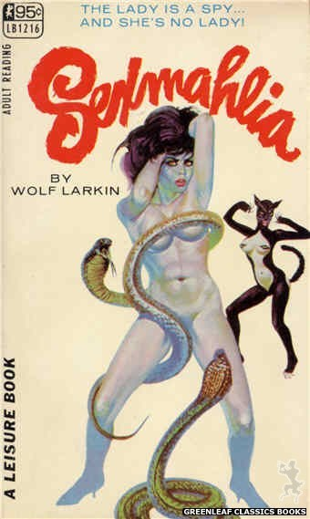 Leisure Books LB1216 - Sexmahlia by Wolf Larkin, cover art by Robert Bonfils (1967)