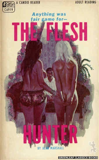 Candid Reader CA919 - The Flesh Hunter by Alan Marshall, cover art by Robert Bonfils (1968)