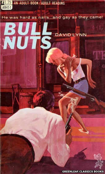 Adult Books AB451 - Bull Nuts by David Lynn, cover art by Darrel Millsap (1968)