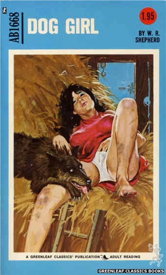 Adult Books AB1668 - Dog Girl by W.R. Shepherd, cover art by Unknown (1973)
