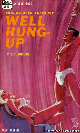 Adult Books AB421 - Well Hung-Up by J.X. Williams, cover art by Darrel Millsap (1968)