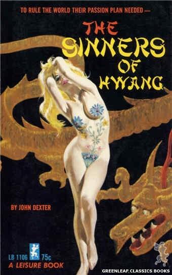 Leisure Books LB1106 - The Sinners Of Hwang by John Dexter, cover art by Robert Bonfils (1965)
