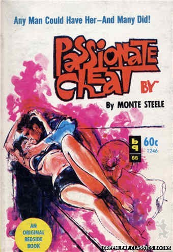 Bedside Books BB 1246 - Passionate Cheat by Monte Steele, cover art by Unknown (1963)
