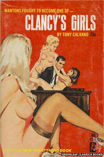 Nightstand Books NB1744 - Clancy's Girls by Tony Calvano, cover art by Robert Bonfils (1965)
