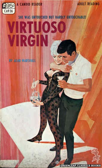 Candid Reader CA936 - Virtuoso Virgin by Alan Marshall, cover art by Darrel Millsap (1968)
