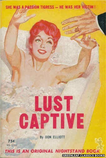 Nightstand Books NB1596 - Lust Captive by Don Elliott, cover art by Harold W. McCauley (1962)