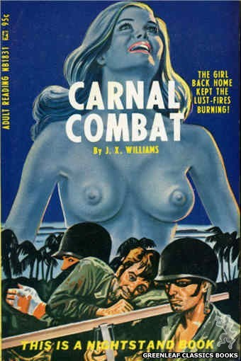 Nightstand Books NB1831 - Carnal Combat by J.X. Williams, cover art by Tomas Cannizarro (1967)